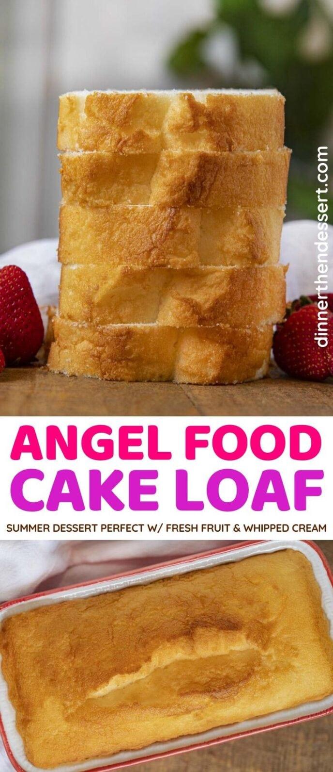 Angel Food Cake Loaf collage
