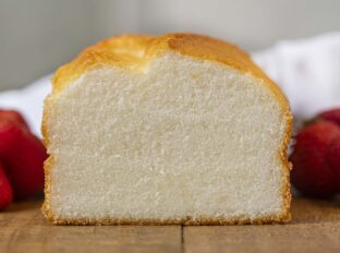 Angel Food Loaf Cake slice