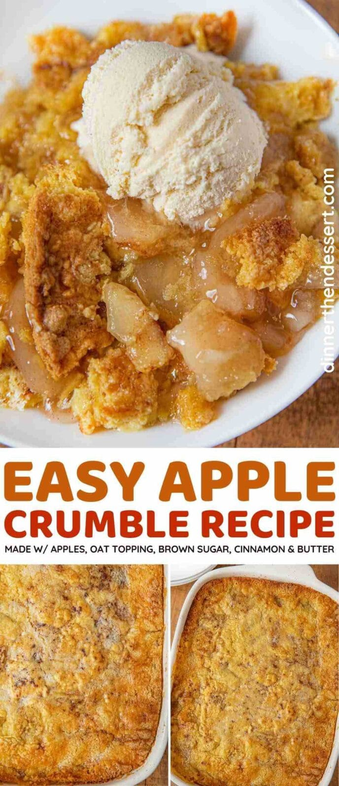 Apple Crumble collage