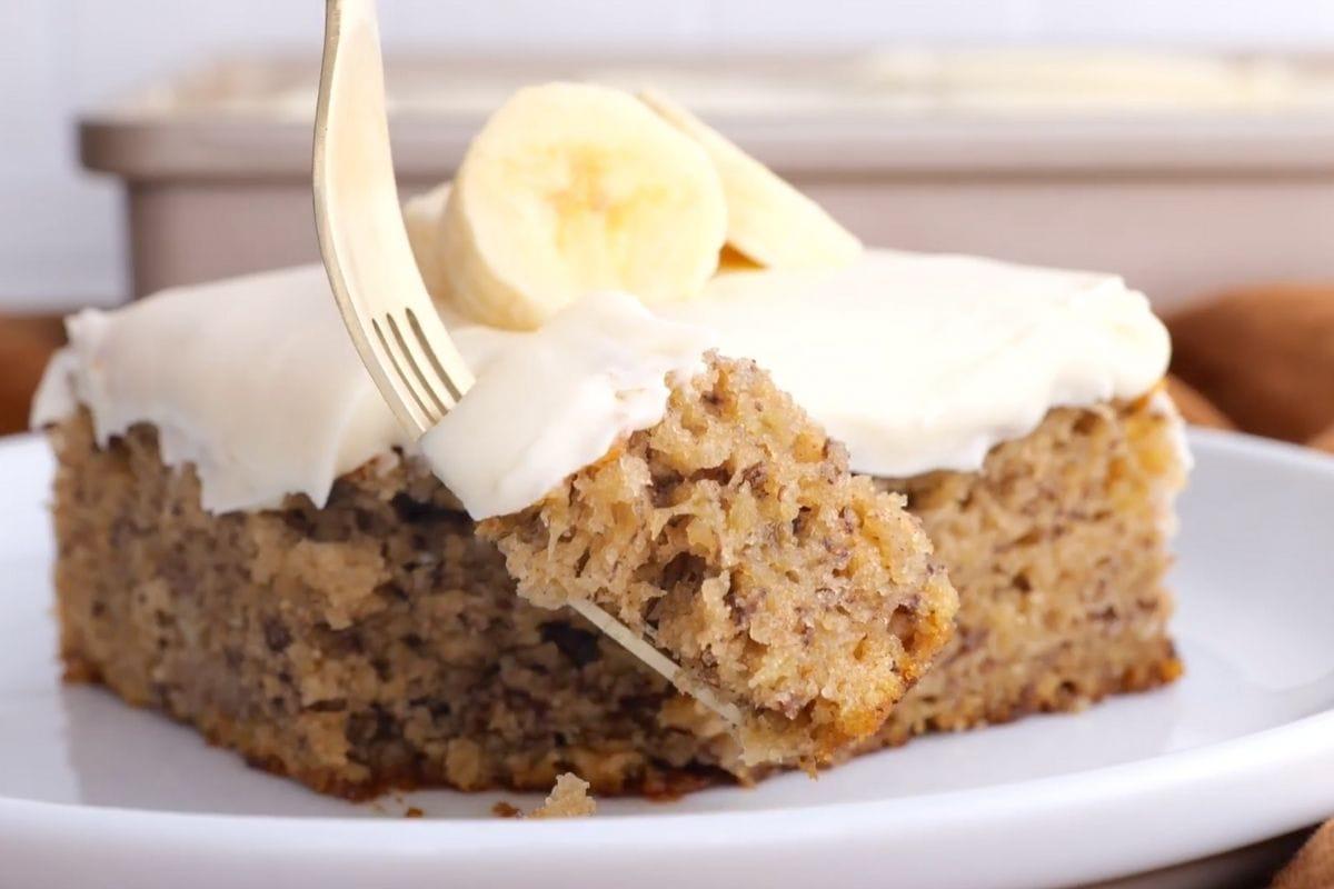 Easy Banana Cake Collage