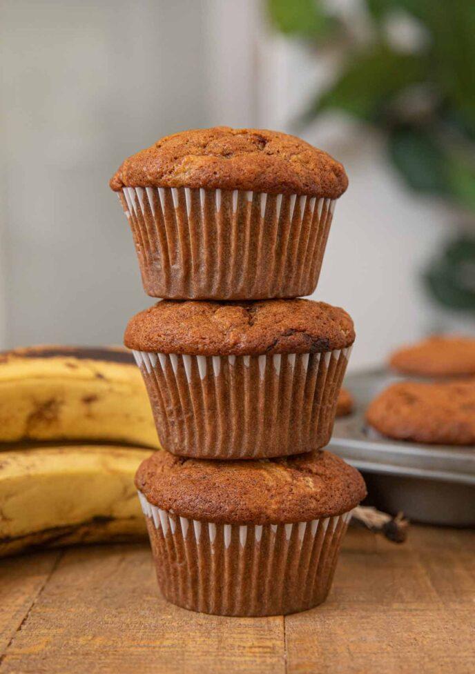 Stack of Banana Muffins