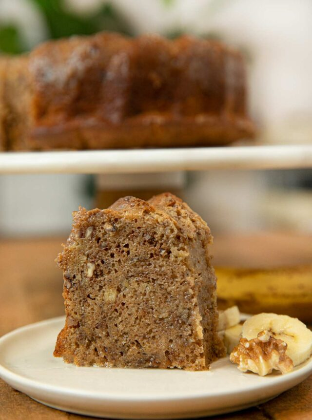 Slice of Banana Rum Cake