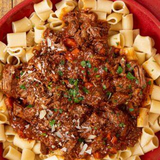 Slow Cooker Beef Ragu over pasta