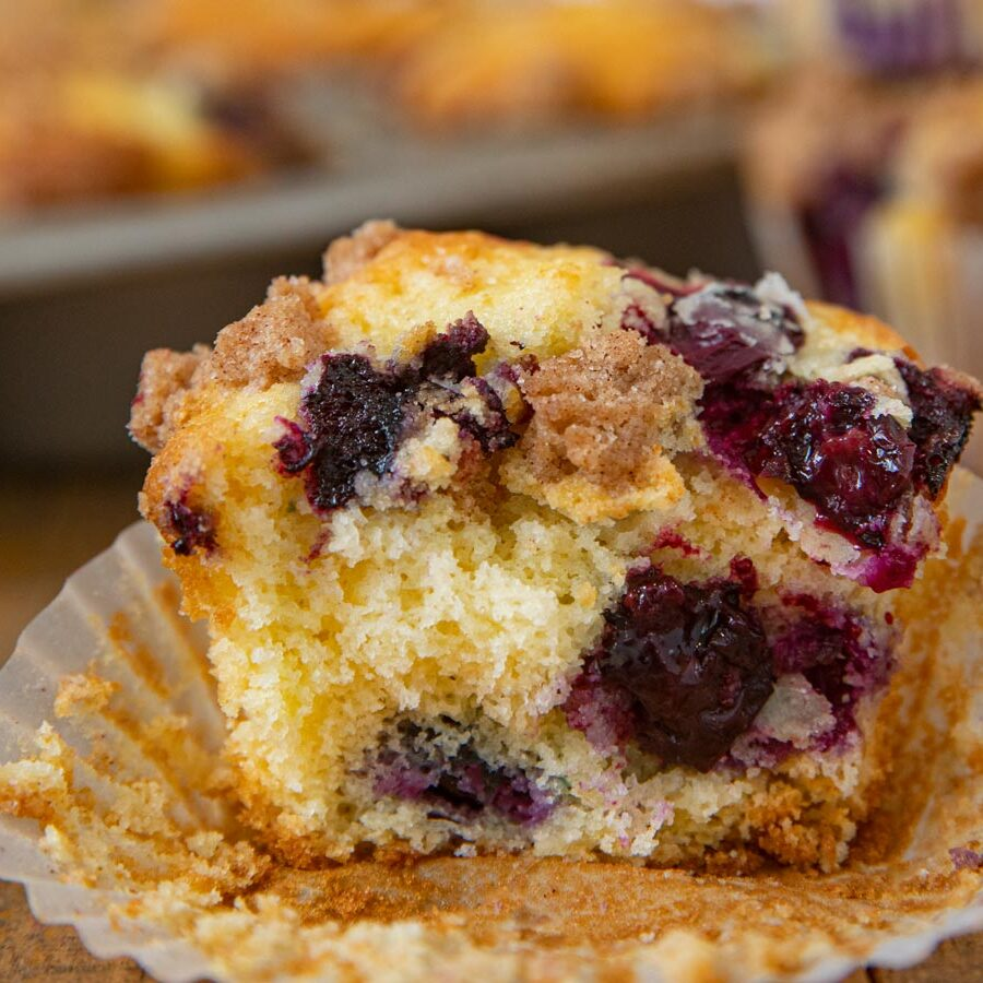 Blueberry Muffin with Cinnamon Crumb Topping