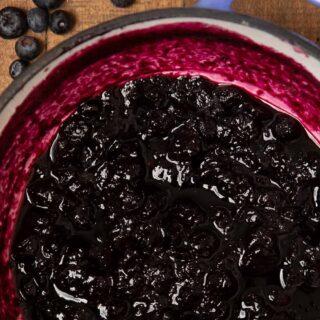 Blueberry Jam in pot