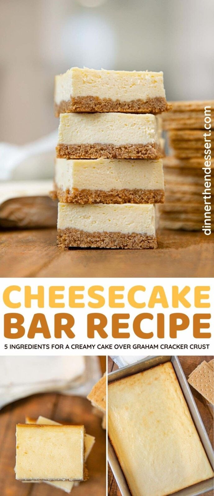 Cheesecake Bars collage