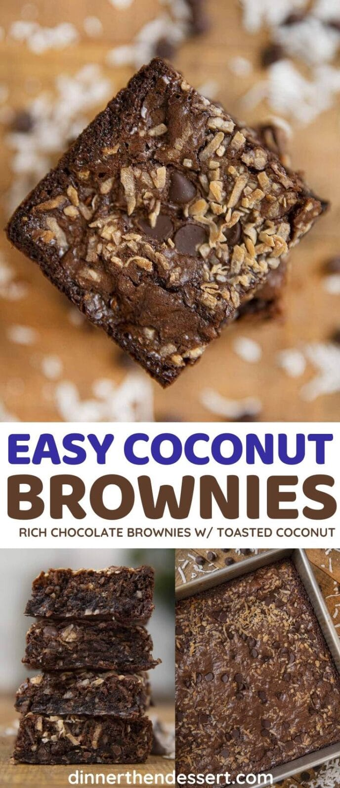 Coconut Brownies collage