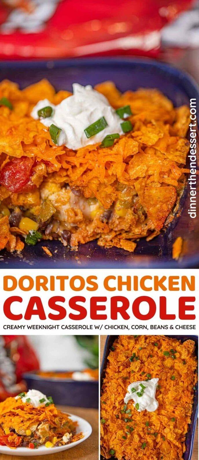 Doritos Chicken Casserole collage