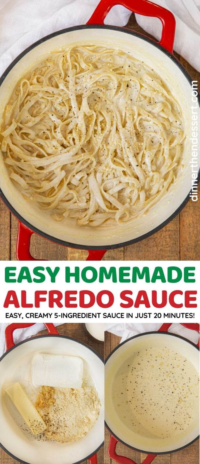 Easy Alfredo Sauce collage