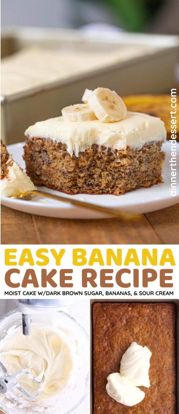 Banana Cake Collage