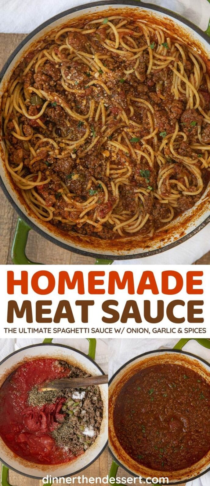 Homemade Meat Sauce collage