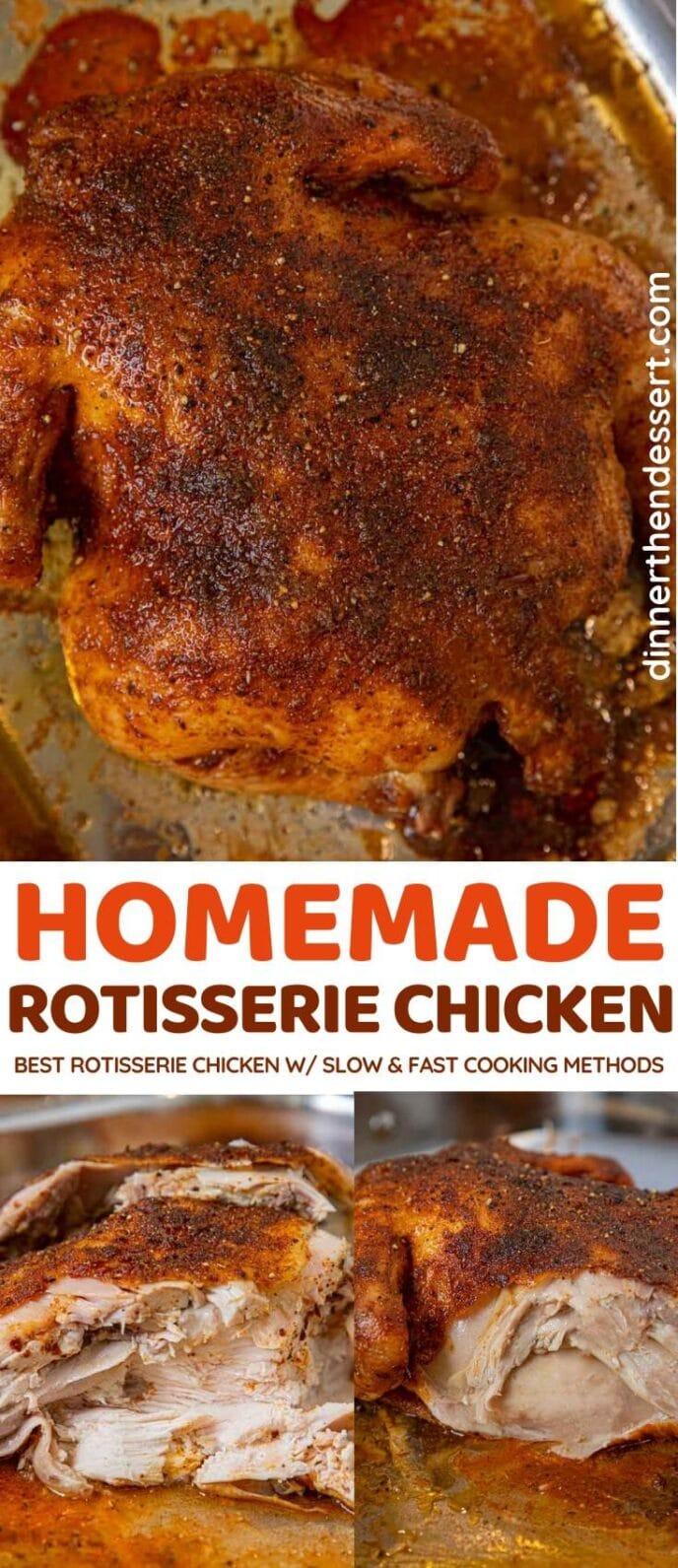 Homemade Rotisserie Chicken collage