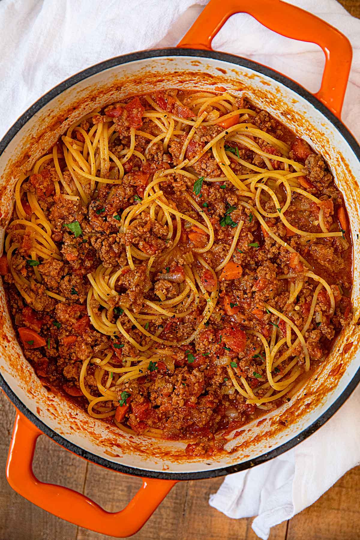 Homemade Bolognese Sauce Crockpot Directions Too Dinner Then Dessert