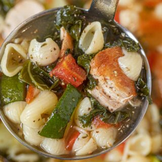 Italian Chicken Soup in ladle