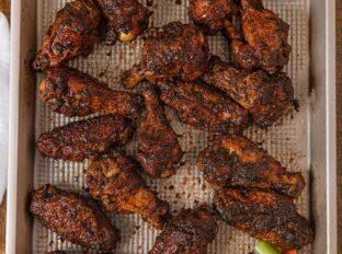 Baked Crispy Jerk Chicken Wings