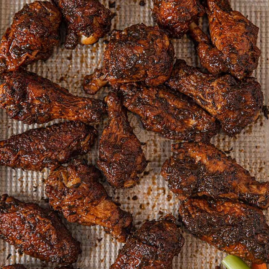 Baked Crispy Jerk Chicken Wings