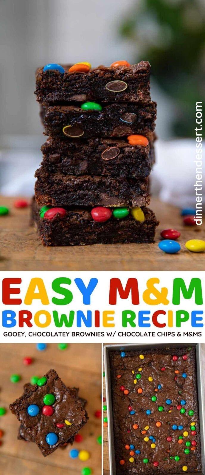 M&M Brownies collage