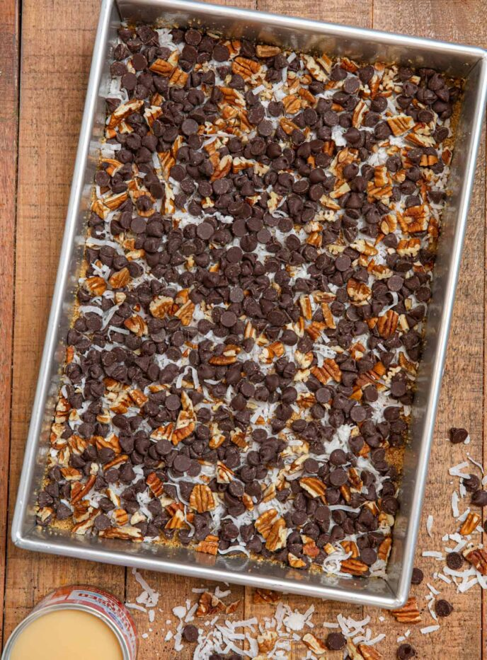 Five Layer Bars before baking