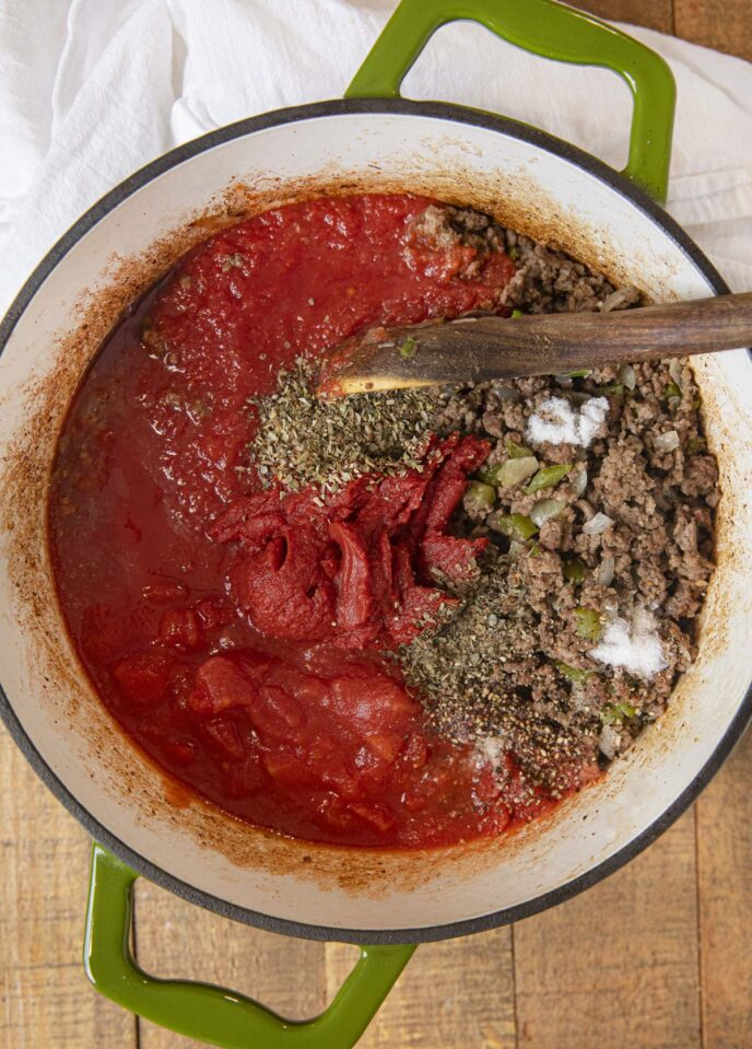 Meat Sauce Ingredients