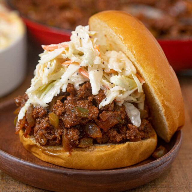 Memphis BBQ Sloppy Joes with slaw