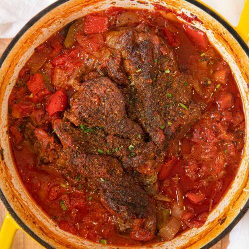 Mexican Pot Roast in pot