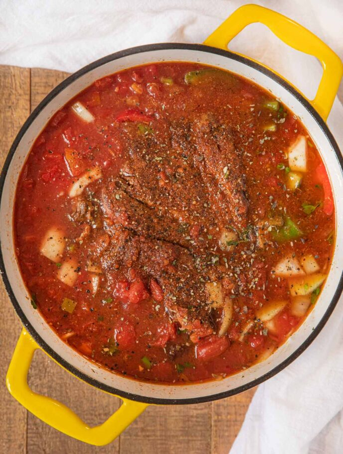 Mexican Pot Roast Uncooked