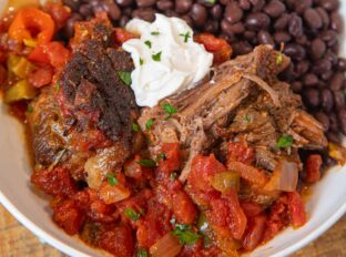 Mexican Pot Roast shredded