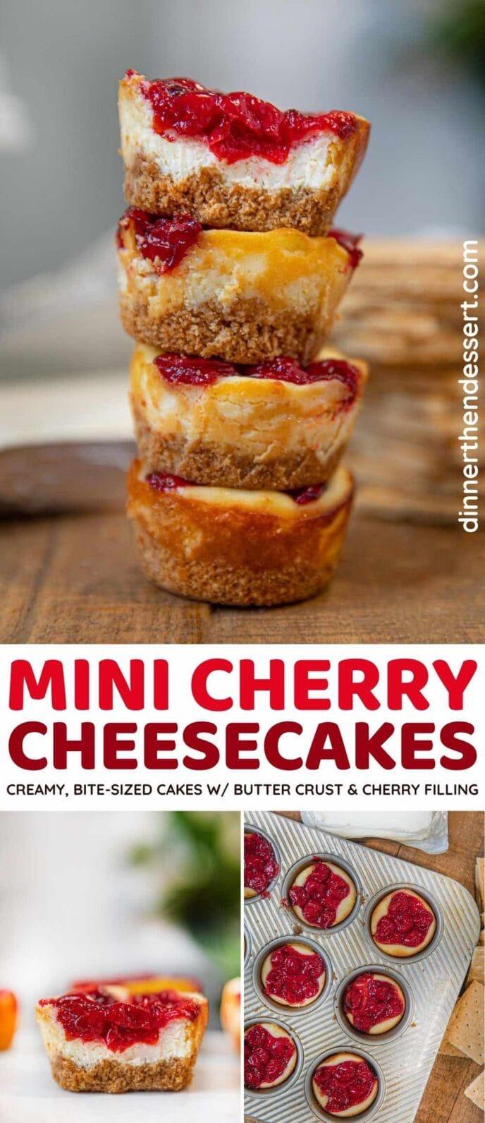 Mini Cherry Cheesecake collage