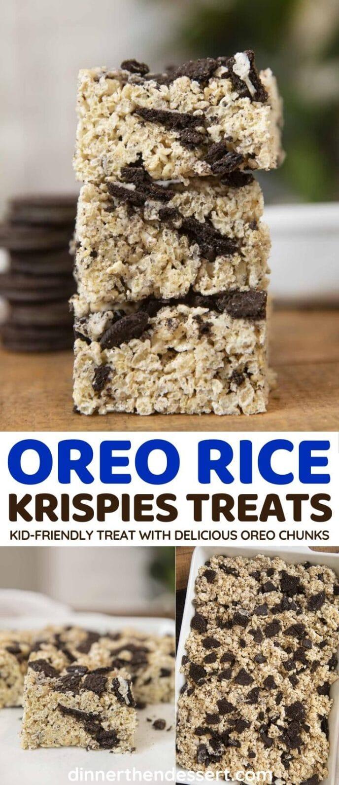 Oreo Rice Krispies Treats collage