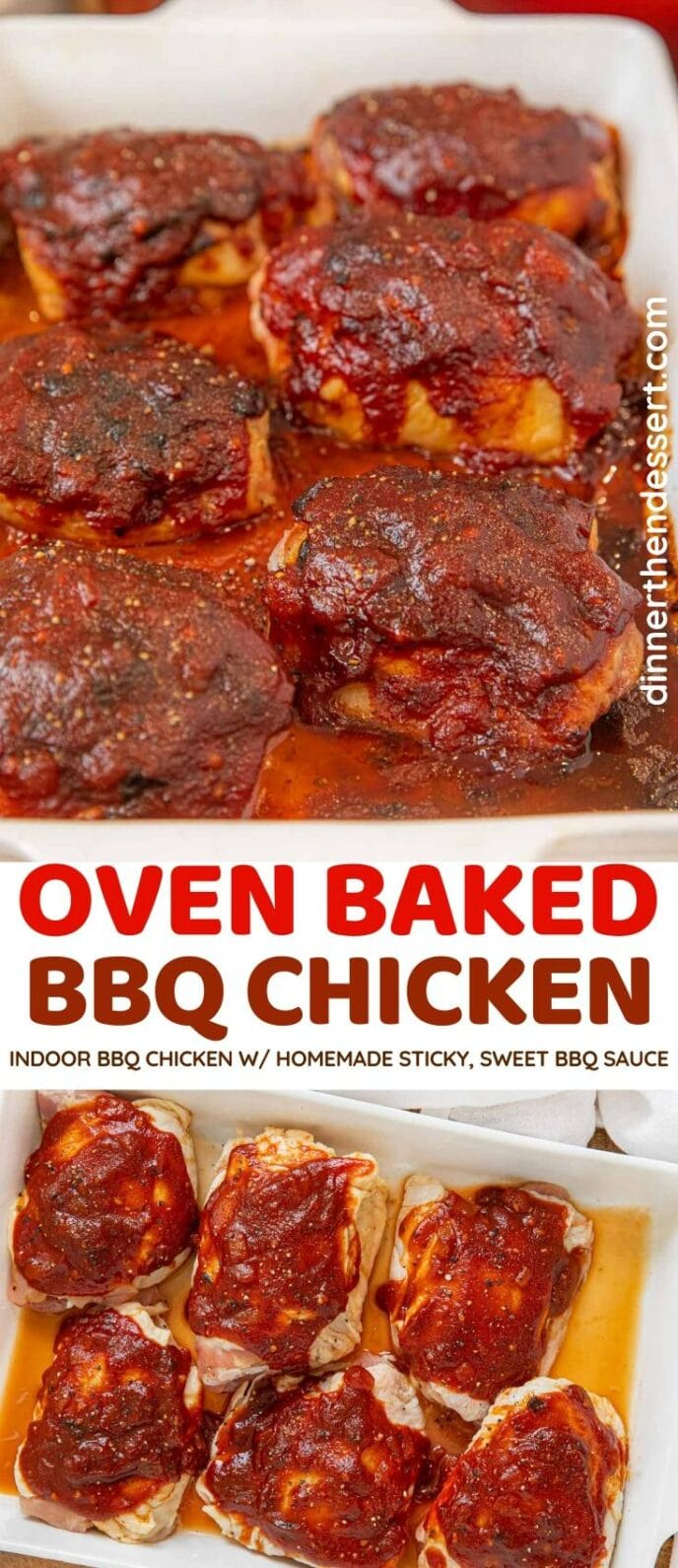 Oven Baked BBQ Chicken collage