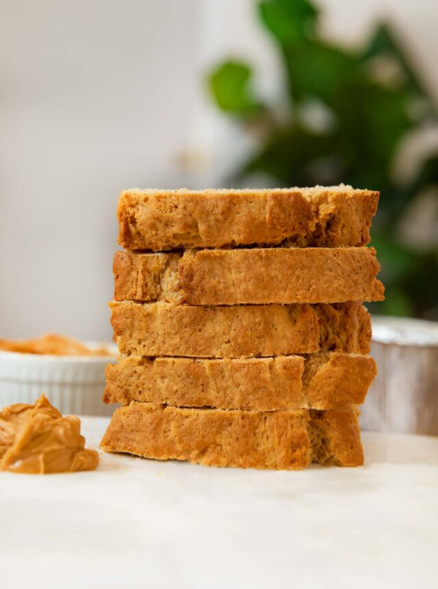 Sliced Peanut Butter Bread in a stack