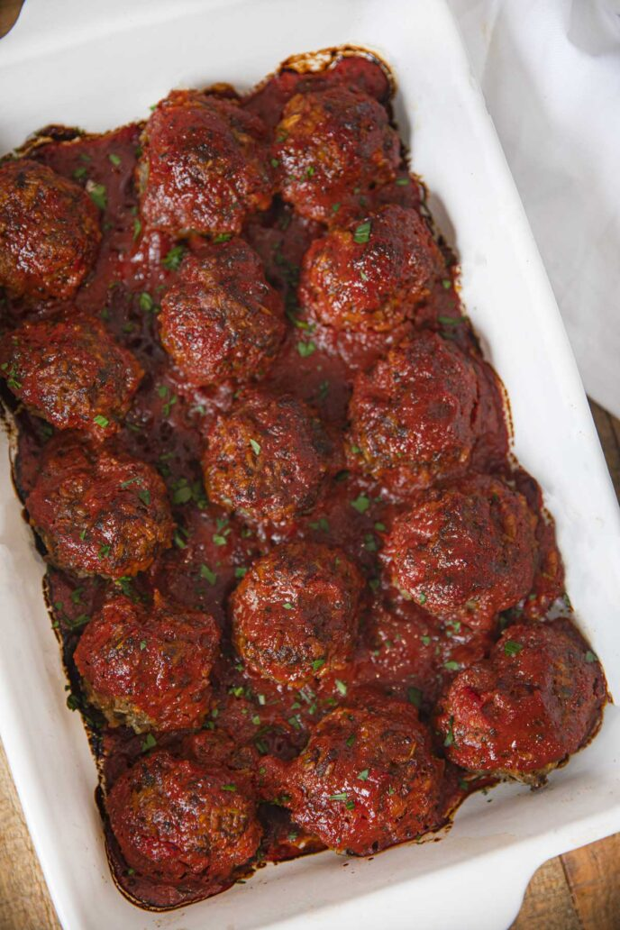 Porcupine Meatballs in baking pan