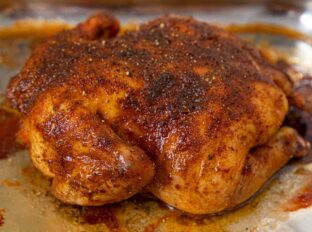Rotisserie Chicken in roasting pan