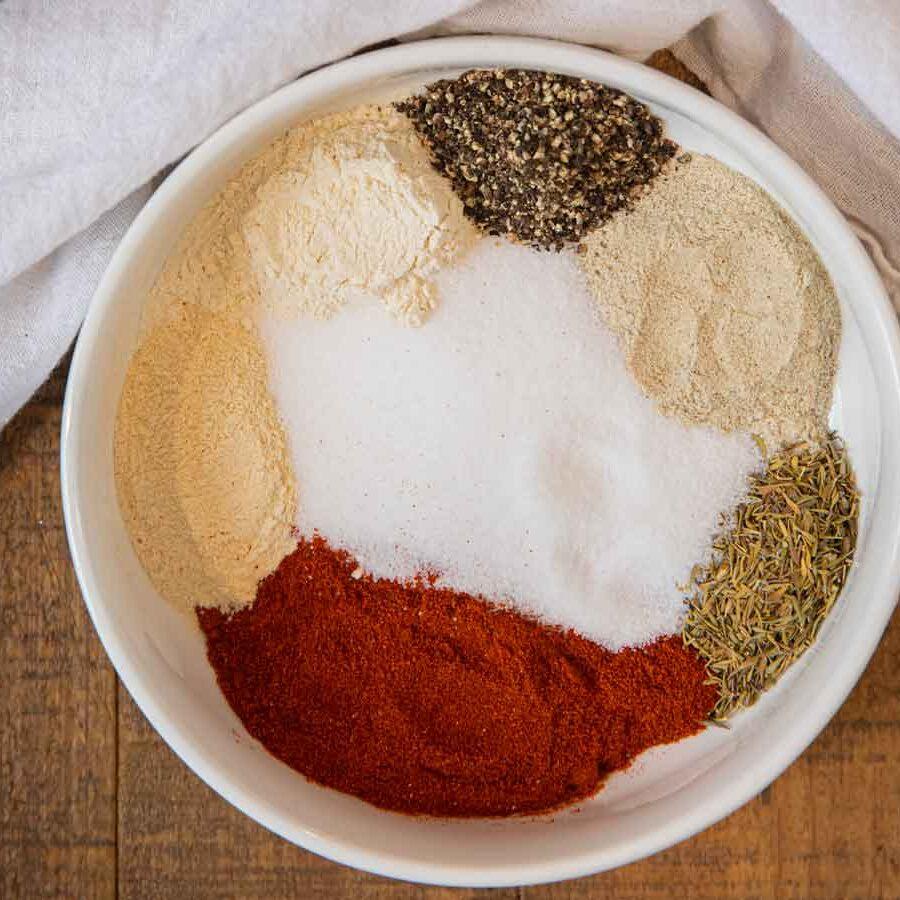 Rotisserie Chicken Seasoning ingredients in bowl