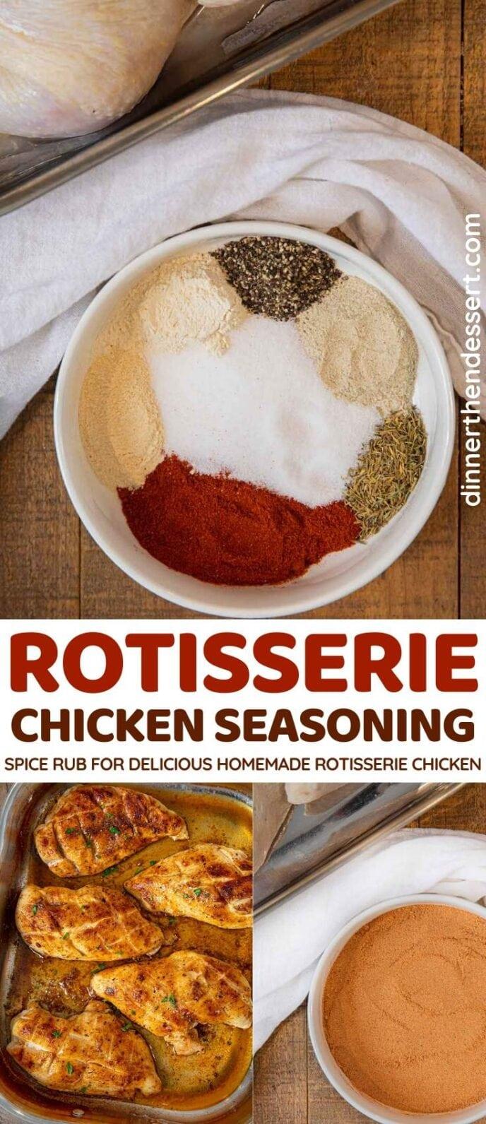 Rotisserie Chicken Seasoning collage