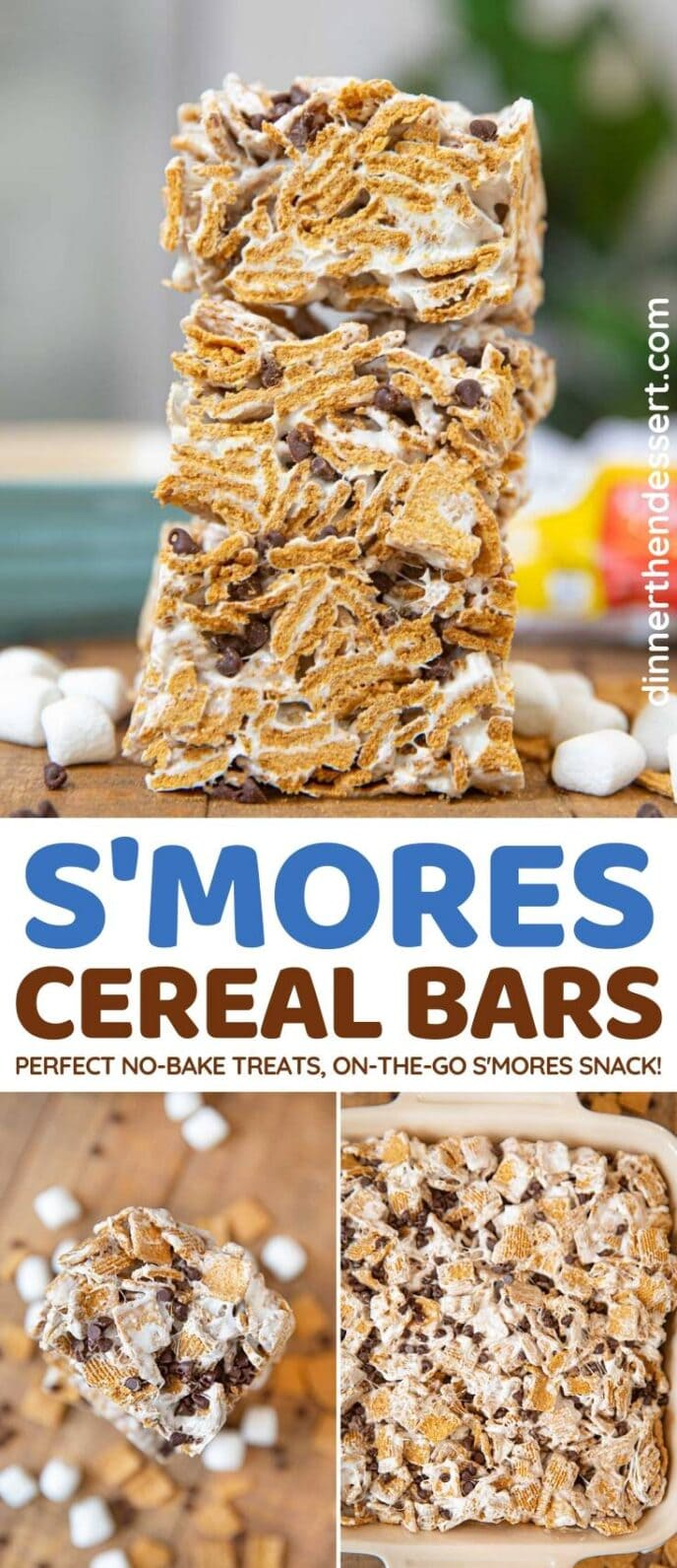 S'Mores Cereal Bars collage