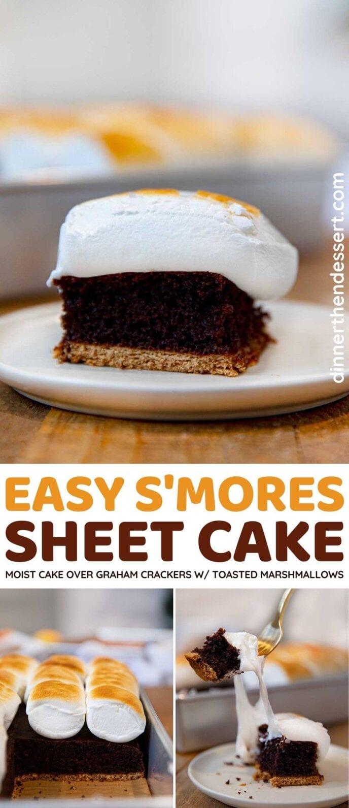 S'mores Chocolate Sheet Cake