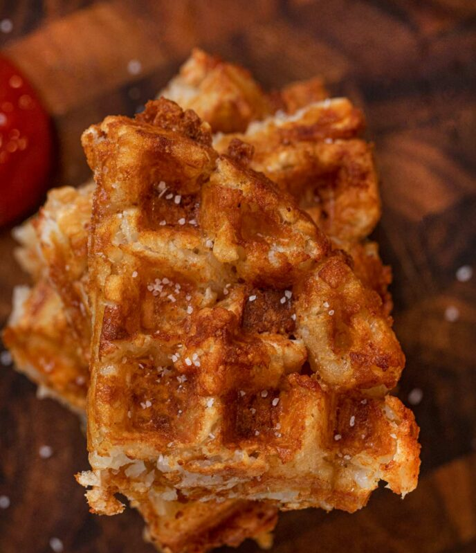Tater Tot Waffle from top down