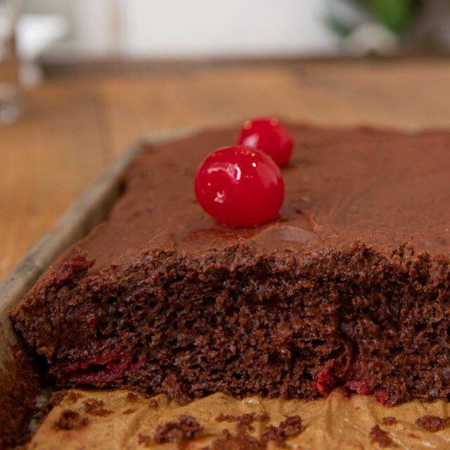 Cherry Chocolate Texas Sheet Cake