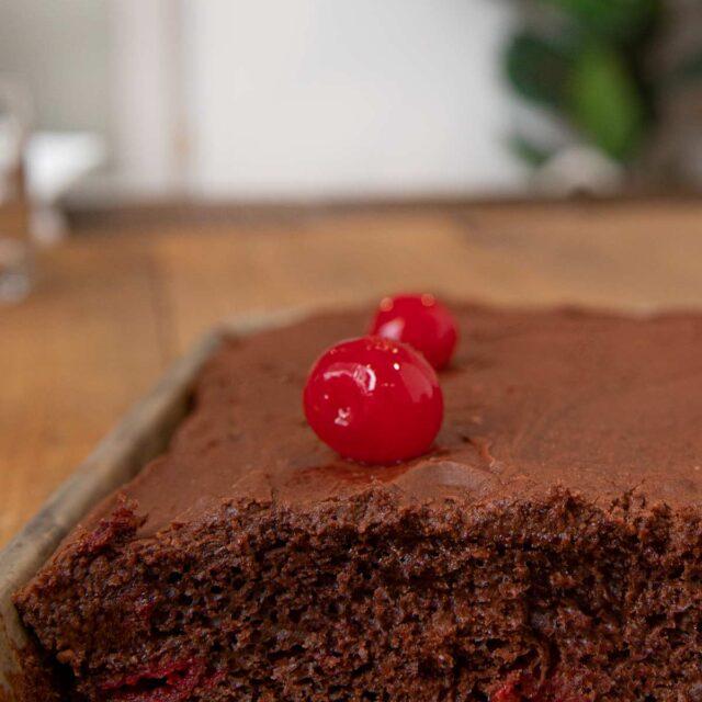Cherry Texas Chocolate Sheet Cake