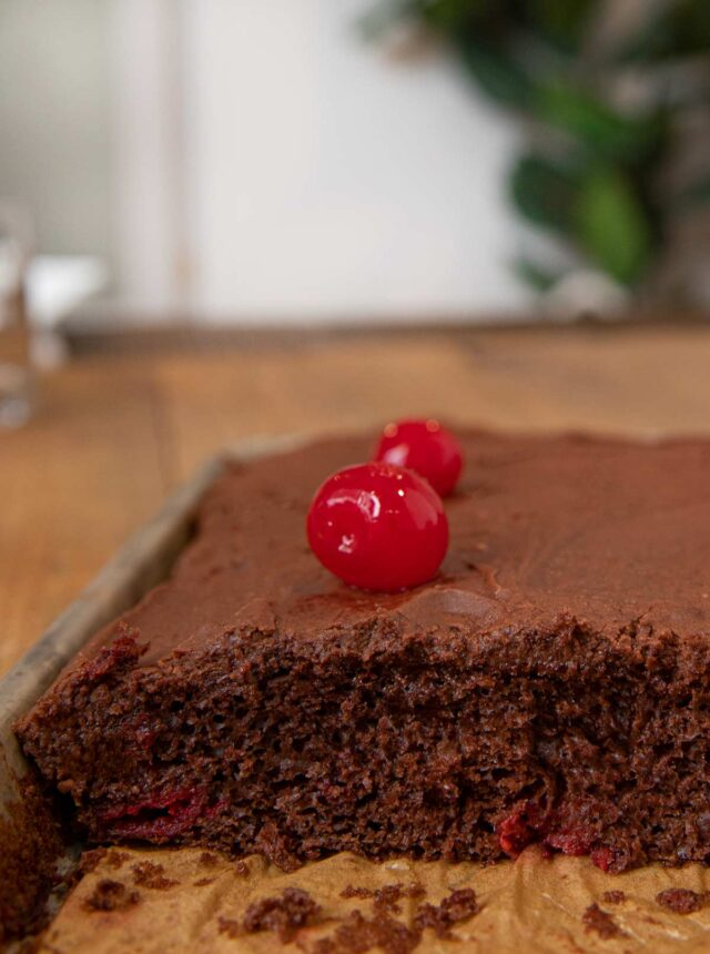 Cherry Texas Chocolate Sheet Cake