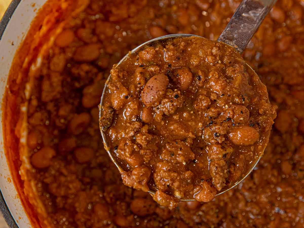 Beef And Beer Chili Recipe Perfect For Game Day Dinner Then Dessert