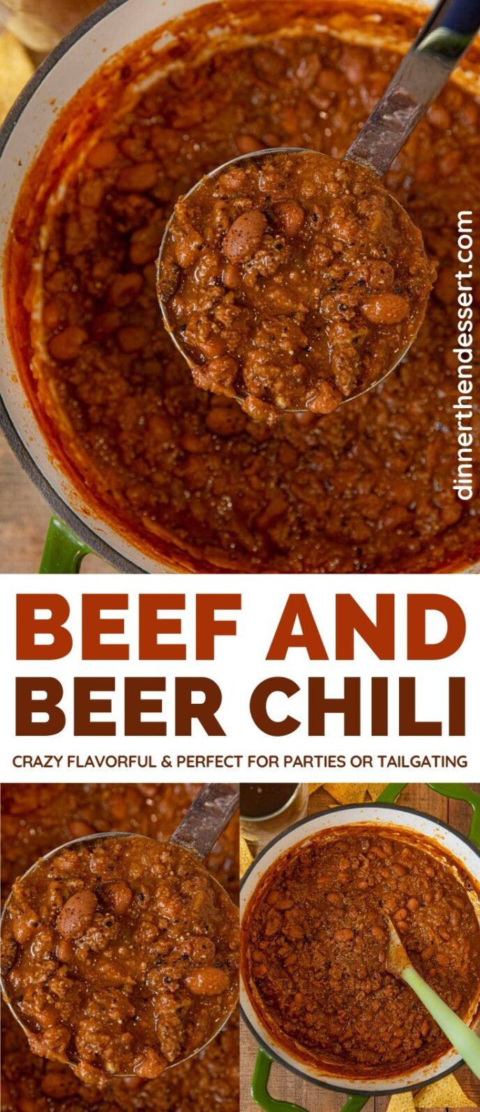 Beef and Beer Chili collage