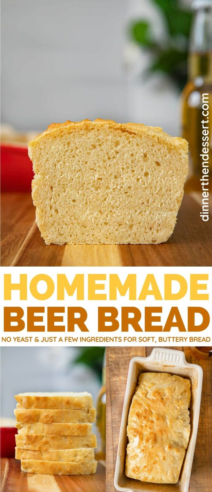 Homenade Beer Bread collage