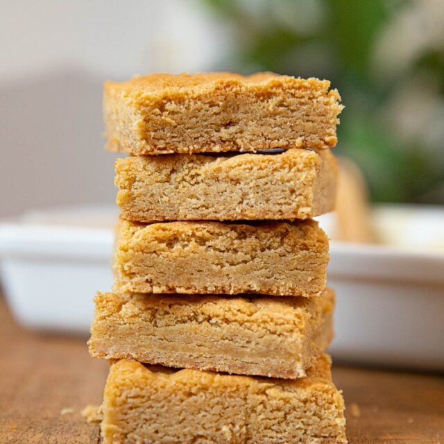 Brown Sugar Brownies in stack