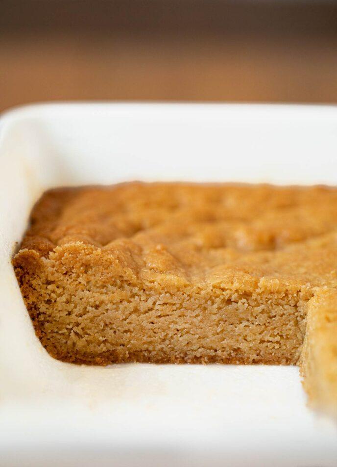 Brown Sugar Brownies in baking dish