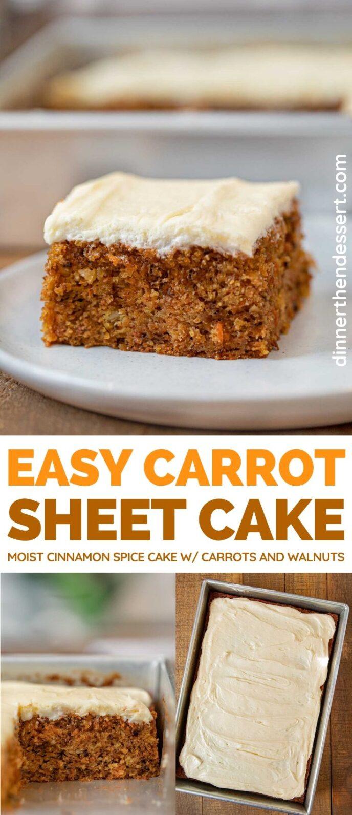 Carrot Sheet Cake collage