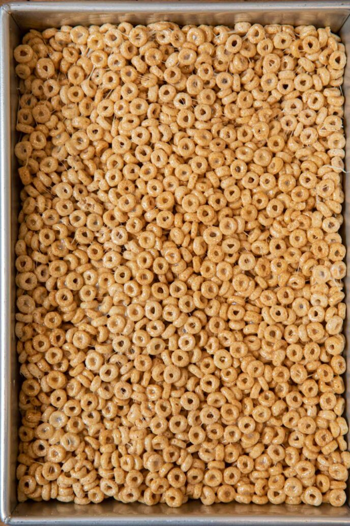 Cheerios Cereal Bars in baking dish