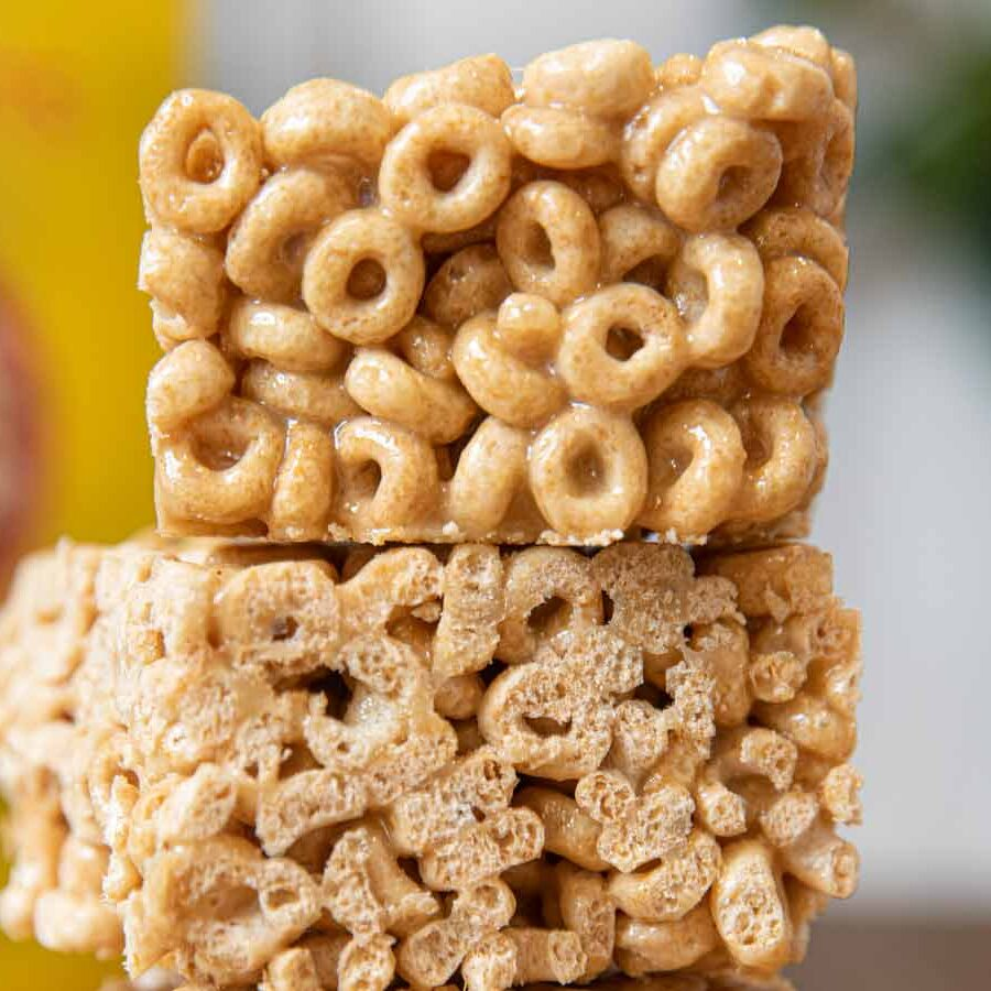 Cheerios Cereal Bars in stack