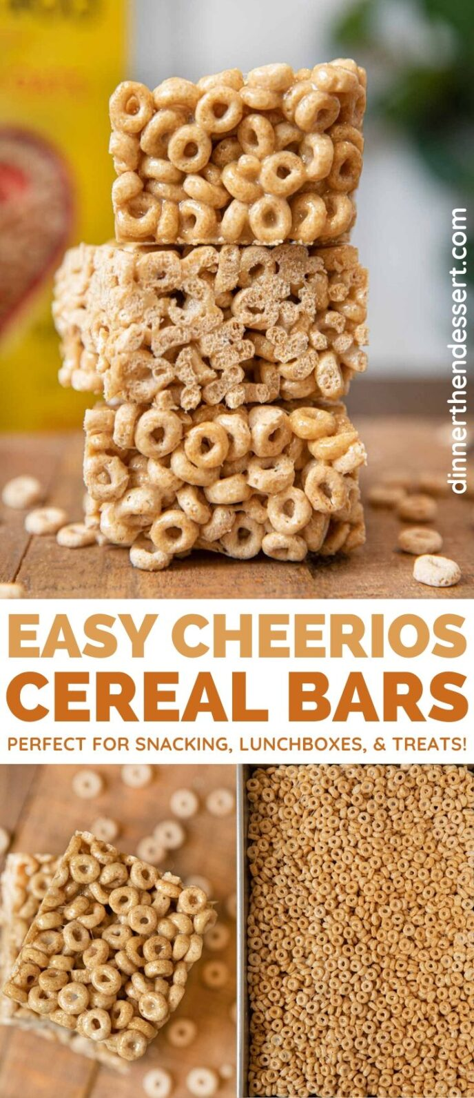 Cheerios Cereal Bars collage